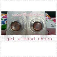 Softlens Gel Almond Bulan / Soft Lens Gel ALMOND dia 14.5mm air 55% KO