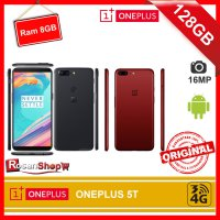 ONEPLUS 5T 128GB RAM 8GB 16Mp Dual Garansi 1Thn Original 100% - Oneplus - ( Black - Red )
