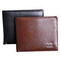 [FREE ONGKIR] Men Bifold Business Leather Wallet - 2 Colors