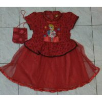 Dress Imlek / Cheongsam anak Elsa Frozen Sz.8