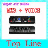 [globalbuy] 2.4GHz IR Remote Control Air Mouse Wireless Flying Double Keyboard Microphone /1588234