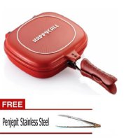 Happy Call Special Double 32cm free penjepit stainless steel - Merah