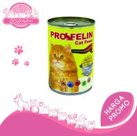 PROFELIN SARDINES WITH SALMON IN JELLY WET 400GR - MAKANAN KUCING