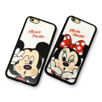 (1+1)Disney iphone 6(s)/6(s) plus Cartoon Lovers Mickey Mouse Minnie TPU silicon case