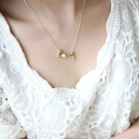 Kalung Clavicle Love Gold Necklace