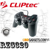 CLiPtec RZG320 ACTION-ELITE PC USB Ganda Getaran Gamepad