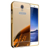 Case Oppo R7 Plus Bumper Metal + Back Case Sliding - GOLD