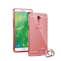 Case Oppo R7 Plus Bumper Metal + Back Case Sliding - ROSE GOLD