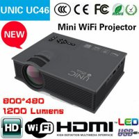 Unic UC46 Wifi Mini LED Projector Portable 1200 Lumens