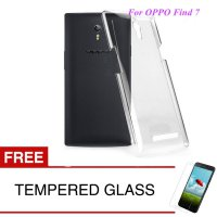Crystal Case for OPPO Find 7 / 5.5 inch - Clear Hardcase + Gratis Tempered Glass