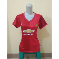JERSEY MANCHESTER UNITED MU HOME LADIES 2016/2017 GRADE ORI
