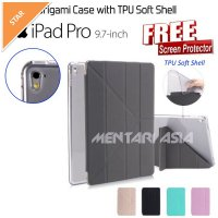 Flipcover iPad Pro 9.7' : SMART Origami Case with TPU Soft Shell