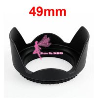 [globalbuy] 49mm Lens Hood Screw Mount Petal Crown Flower Shape New/2406403