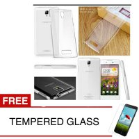 Crystal Case for OPPO Neo 3 / R831K - Clear Hardcase + Gratis Tempered Glass