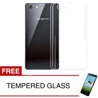 Crystal Case for OPPO Neo 7 - Clear Hardcase + Gratis Tempered Glass