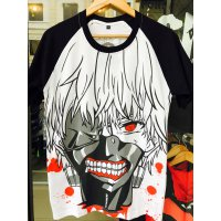 KAOS ANIME KANEKI MASK BLOOD