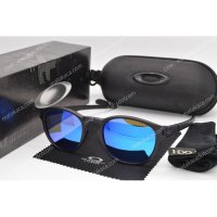 Kacamata Sunglasses Latch Round Biru