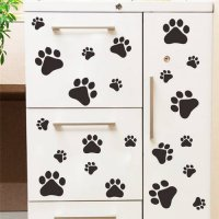 [globalbuy] Dog Cat Walking Paw Print Wall Stickers Decal Home Decoration LK009 Wall Art f/3353950