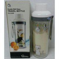OXONE BOTOL MINUM KACA DOUBLE WALL GLASS TRAVEL BOTTLE OX 32 M