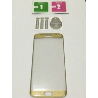 SALE Samsung S7 EDGE GOLD FULL COVER Premium tempered glass