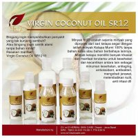 Virgin Coconut Oil VCO Cair Minyak Kelapa Murni Original Asli SR12 Herbal 60ml