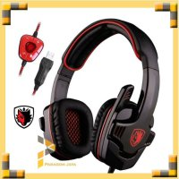 SADES SA-901 Gaming Headset Gaming Headphone USB For PC Notebook Red