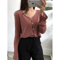 Linen Cardigan T shirt Free Shipping Hihg Quality korean Fashion [S029]