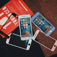TEMPERED GLASS WARNA IPHONE 5C,5,5G,5S,SE FULL COVER SISI DEPAN (Gold Product)