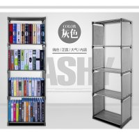 Rak Portable Serbaguna 4 susun Book Rack Buku Shelf Single Interior