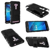Asus Zenfone Selfie Heavy Duty Rugged Armor Stand Case Casing Cover