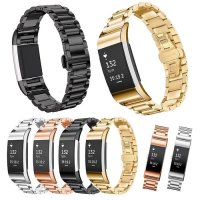 Stainless Steel Strap Band for SAMSUNG GEAR FIT 2 three pointers