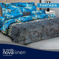 Hot Deal's Sprei Set King Nova Linen Size 180 X 200 Type Fantasia Kode199