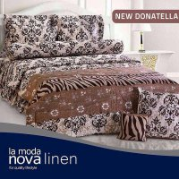 Hot Deal's Sprei Set Queen Nova Linen Size 160 X 200 Type New Donatella (B-4)