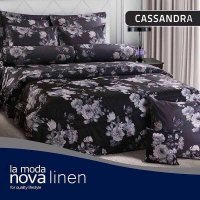 Hot Deal's Sprei Set Queen Nova Linen Size 160 X 200 Type Casandra (B-4) Kode210