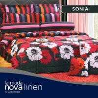 Hot Deal's Sprei Set Queen Nova Linen Size 160 X 200 Type Sonia (B-4) Kode202