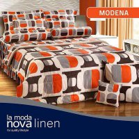 Hot Deal's Sprei Set Queen Nova Linen Size 160 X 200 Type Modena (B-4) Kode201