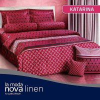 Hot Deal's Sprei Set Queen Nova Linen Size 160 X 200 Type Katarina (B-4) Kode208