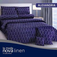 Hot Deal's Sprei Set Queen Nova Linen Size 160 X 200 Type Alexandria (B-4) Kode20