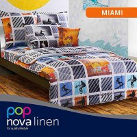 Hot Deal's Sprei Set King NOVA Linen Size 180 X 200 Type MIAMI Kode126