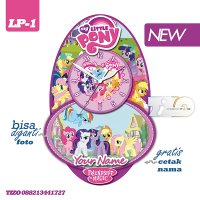 Jam Dinding Karakter Unik Tizo Tema My Little Pony - Bisa Tambah Photo
