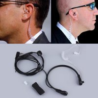 New 2PIN Security Throat Vibration Mic Headphone Headset Earpiece For Talkie|ZA232200