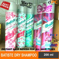 BATISTE 200 ml DRY SHAMPOO | Shampo Kering 100% ORIGINAL UK - LONDON