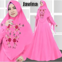 new dress gamis fashion muslim javina syari baloteli bordir 4 warna