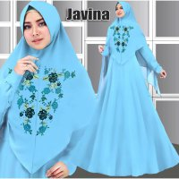 new dress gamis fashion muslim javina syari baloteli bordir 2 warna