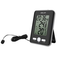 TERBARU BALDR Jam Alarm LED Thermometer Weather Station with Probe