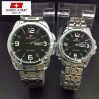 Swiss Army Jam Tangan Couple PS231- Silver