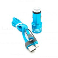 Strucco Car Saver Dual USB and 2in1 Cable (Micro USB & iOS)