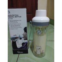 [oxone] ox-032m double wall glass travel bottle drawing