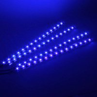 [poledit] BBMART 4 Pcs 30cm Car Truck Flexible Waterproof LED Light Strip Blue (R1)/12598457