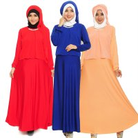 Jfashion New Double Layer Gamis Necklace plus Hijab